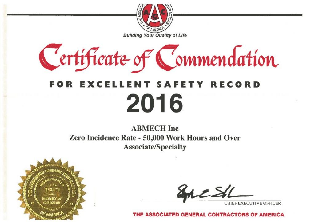 Cert of commend 2016